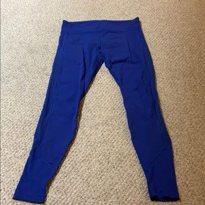 Yoga legging with Side panel and ribbed bottom